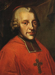 La relación de Mozart con su patrón, el arzobispo Hieronymus von Colloredo, fue bastante turbulenta por sus continuas discusiones.