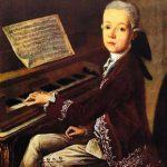 Mozart a los once años, cuando ya era un renombrado concertista.