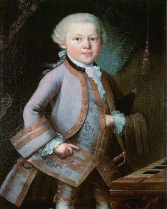 Mozart con siete años de edad.