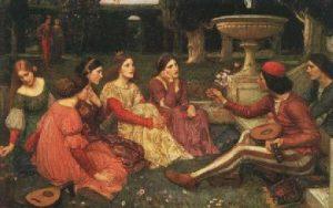 La poesía trovadoresca confirió a la mujer una gran dignidad, honra y respeto. Ella se convirtió en la encarnación de las cualidades nobles y virtuosas.