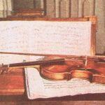 Violín de Mozart conservado en su casa natal de Salzburgo, hoy convertida en museo.