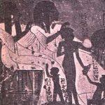 Representación de una familia egipcia, unos dos mil años antes de Cristo.