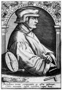 Johannes Stöffler (1452-1531) fue un matemático, astrónomo, astrólogo y clérigo alemán, constructor de instrumentos astronómicos y profesor de la Universidad de Tubinga.