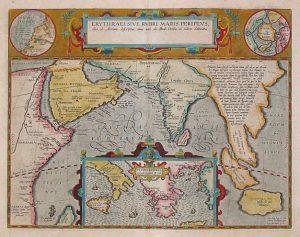 Mapa del geógrafo y cartógrafo flamenco Abraham Ortelius, Ámsterdam 1597: en la esquina superior derecha dice 'Hyper Borei' y muestra un continente que ocupa toda el área polar.