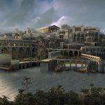 Una recreación de la ciudad perdida de la Atlántida.