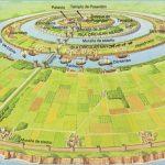 Aspecto general que tendría (según los relatos de Platón) la ciudad central de la Atlántida, donde todos los canales eran navegables... Después de la creación del mundo, los dioses se lo repartieron y Poseidón, soberano de los mares, recibió la Atlántida. Allí vivían Evenor y Leucipe, con su hija Clito, todos mortales, de la que se enamoró y fue correspondido. Para proteger a su amada, futura madre de la estirpe de los atlantes, Poseidón creó tres anillos de agua alrededor de la montaña donde residía, de modo que fuera inaccesible a los hombres, el resto era llanura fértil. Enriqueció la tierra proveyéndola de alimentos variados y suficientes, de manantiales de agua caliente y fría...