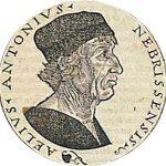 Antonio de Nebrija, humanista español que ocupa un lugar destacado en la historia de la lengua española por ser el autor de la primera gramática castellana (1492).