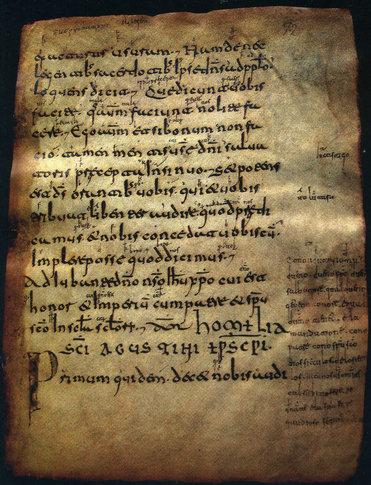 Página 72 del Códice Emilianense 60 (se aprecia la glosa al margen)