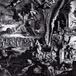Ilustración de un aquelarre en el siglo XVII, con la supuesta intervención del demonio ordinariamente en figura de macho cabrío, para sus prácticas mágicas o supersticiosas.