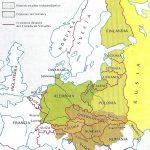 Mapa de la reorganización europea tras el Tratado de Versalles.