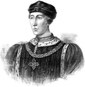 Enrique VI de Inglaterra, único hijo de Enrique V y de Catalina de Francia.
