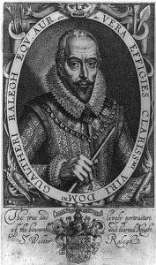 Walter Raleigh (1552-1618) fue un marino, corsario, escritor, cortesano y político inglés.