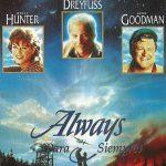 'Always' es un filme dirigido por Steven Spielberg en 1989. Audrey Hepburn aparece en un pequeño papel. Fue su última película antes de retirarse del cine para dedicarse a los niños necesitados, como embajadora de Unicef.