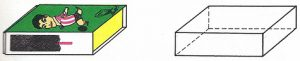 Una caja de cerillas constituye un cuerpo geométrico llamado ortoedro.