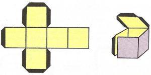 El cubo tiene seis caras cuadradas, doce aristas iguales y ocho vértices.