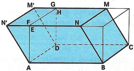 Un paralelepípedo es un prisma de seis caras cuyas bases son paralelogramos, iguales y paralelos dos a dos.