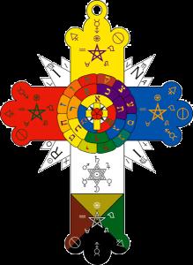 Rosacruz de la Orden Hermética del Alba Dorada, una fraternidad de magia ceremonial y ocultismo, fundada en Londres en 1888.