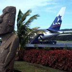 Vista del Aeropuerto Internacional Mataveri en la isla de Pascua, ubicada en el océano Pacífico, a casi 4.000 kilómetros de distancia de Chile, país al que pertenece.