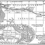 Mapa que muestra la ruta del viaje de exploración en Oceanía del almirante neerlandés Jakob Roggeveen (1659-1729).