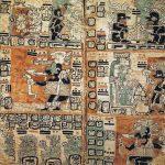 Página del códice Trocortesiano referido a la historia, tradiciones y costumbres religiosas del pueblo maya. En torno al 600-900.