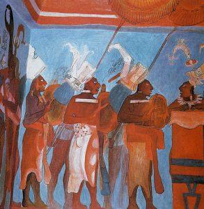 Mural del palacio de Bonampak, la Capilla Sixtina del arte maya.