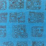 Signos jeroglíficos mayas.