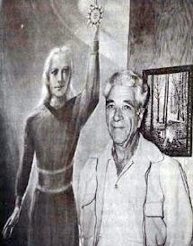 George Adamski y sus extraterrestres rubios, esbeltos y de ojos azules.