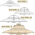 Platillos volantes de las diferentes series Haunebu.
