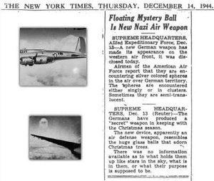The New York Times. Jueves, 14 de diciembre de 1944.