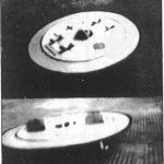 Polémico documento gráfico durante el vuelo de un prototipo en forma de disco (finales II Guerra Mundial).