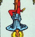 El colgado, según el tarot Rider-Waite.