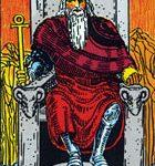 El emperador, según el tarot Rider-Waite.