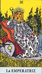 La emperatriz, según el tarot Rider-Waite.