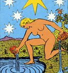 La estrella, según el tarot Rider-Waite.