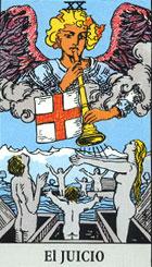 El juicio, según el tarot Rider-Waite.