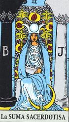 La sacerdotisa, según el tarot Rider-Waite.