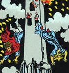 La torre, según el tarot Rider-Waite.