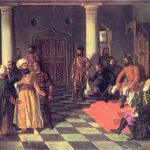 Esta pintura del rumano Theodor Aman muestra a Vlad el Empalador recibiendo a enviados turcos.