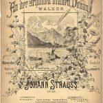 Portada de la partitura del vals 'En el bello Danubio azul', 1867.