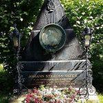 """Tumba de Johann Strauss (padre) en el cementerio central de Viena, en la plaza de los músicos. El compositor francés y figura destacada del Romanticismo Louis Hector Berlioz rendiría homenaje al """"padre del vals vienés"""" comentando que """"Viena sin Strauss es como Austria sin el Danubio""""."""