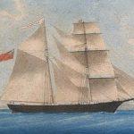 El navío fue construido en los astilleros de Joshua Dewis, situados en Spencer's Island, Nueva Escocia, y se botó con registro británico en 1861 con el nombre de Amazon (en la pintura), para llegar con el tiempo a convertirse en el Mary Celeste.