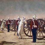 Brutal ejecución de los soldados cipayos en la rebelión de 1857 (en un cuadro de Vasili Vereshchaguin de 1887).