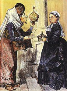 Grabado satírico alusivo a la proclamación de la reina Victoria como emperatriz de la India.