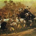 La India se resistió por las armas a la penetración inglesa.
