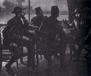 Entrevista en Fachoda entre Marchand (Francia) y Kitchener (Inglaterra), dos expediciones que entraron en pugna sobre los derechos de sus respectivas naciones sobre la cuenca del Nilo.