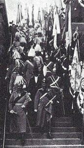 El Káiser en la conmemoración de la batalla de Leipzig.