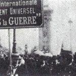 El pacifismo no consiguió evitar la I Guerra Mundial.