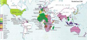 Francia e Inglaterra se repartieron la mayoría de las áreas coloniales ocupadas en el siglo XIX.